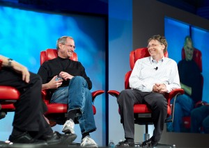 Steve Jobs und Bill Gates - prominente Studienabbrecher