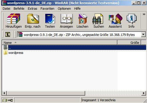 WinRAR für WordPress