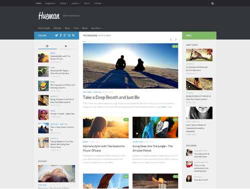 Hueman - Responsive und mit vielen Optionen
