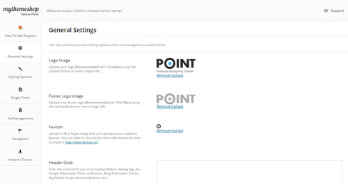 Backend Funktionen von Point