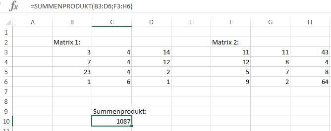 Matrizenprodukt Berechnen : das summenprodukt in excel einfach erkl rt ~ Themetempest.com Abrechnung