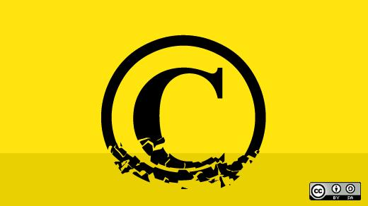 "Bild: ""Copyright license choice"" von  opensource.com. Lizenz: CC BY-SA 2.0"