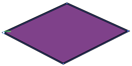 Eine Form besteht aus mehreren Ankerpunkten.
