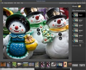 PhotoPerfectExpress bietet fünf Versionen eines Bildes an