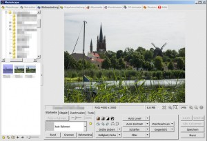 PhotoScape Arbeitsfläche