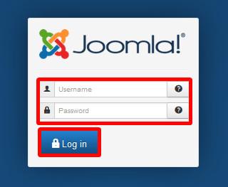 Login in den Administrationsbereich mit Benutzername und Passwort