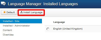 """Option """"Language Manager"""""""