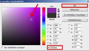 """Das Dialogfenster """"Farbwähler (Ergebnisfarbe)"""""""