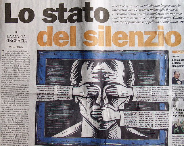 "Bild: ""Freedom of the press in Italy."" von Luciano. Lizenz: CC BY 2.0"