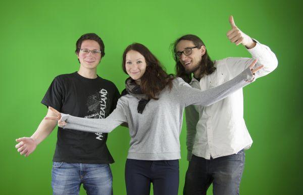 Von links nach rechts: Oliver, Theresa und Christian