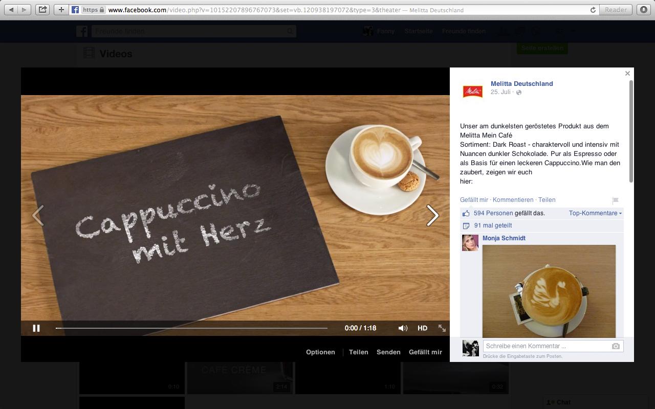 Cappuccino mit Herz Melitta