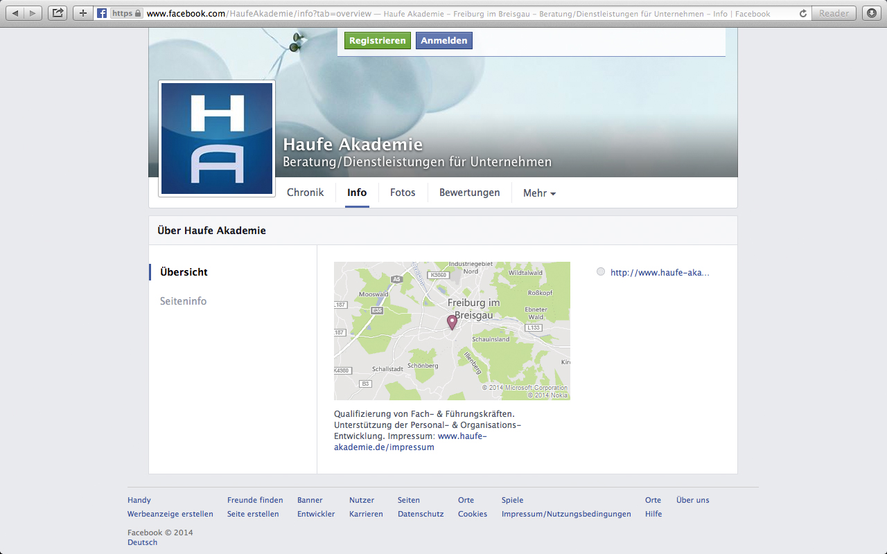 Haufe Akademie Impressum FB
