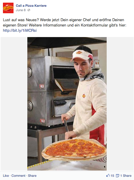Grafik 3 Facebookseite Call a Pizza