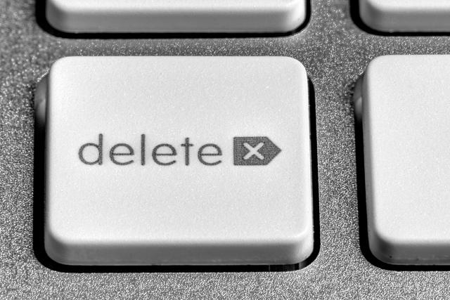Delete Taste auf einer Tastatur