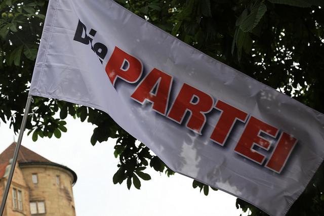 das ist eine flagge von die partei