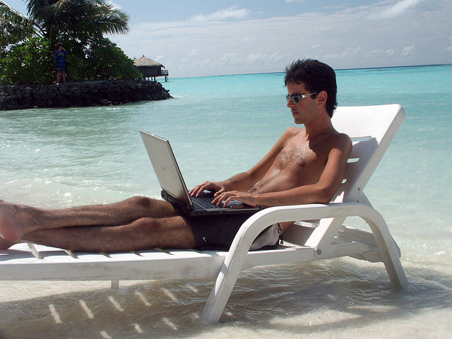 Entspannte Arbeit nach dem Urlaub