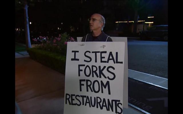 """Bild: """"I STEAL FORKS FROM RESTAURANTS"""" von evan p. cordes. Lizenz: CC BY 2.0"""