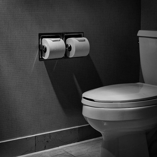 toilette-mit-zwei-klopapierrollen
