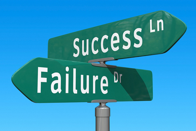 straßenschild-success-failure