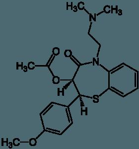 Diltiazem-Strukturformel