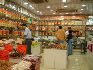 Traditionelle Arzneimittelhandlung in Hongkong